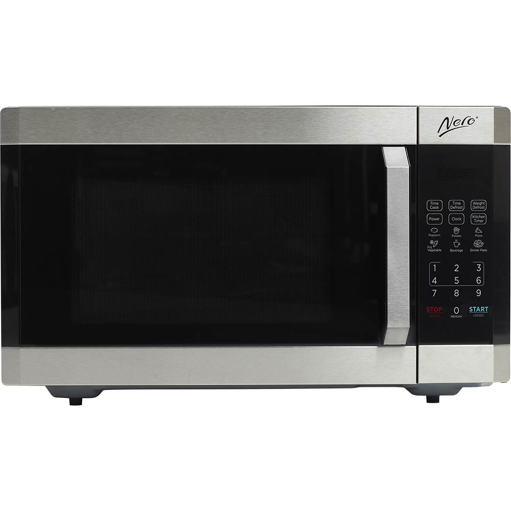 Image for NERO MICROWAVE 1100 WATT STAINLESS STEEL 42 LITRE from Our Town & Country Office National