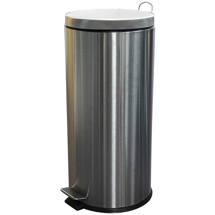 Image for COMPASS ROUND PEDAL BIN 30 LITRE STAINLESS STEEL from Pirie Office National