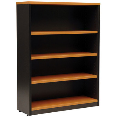 Image for OXLEY BOOKCASE 4 SHELF 900 X 315 X 1200MM BEECH/IRONSTONE from Office National Perth CBD