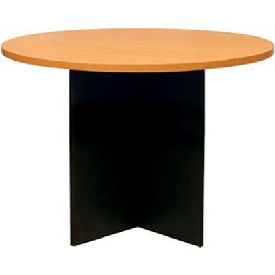 Image for OXLEY ROUND MEETING TABLE 900MM DIAMETER BEECH/IRONSTONE from Wetherill Park / Smithfield Office National