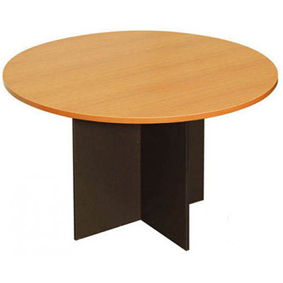 Image for OXLEY ROUND MEETING TABLE 1200MM DIAMETER BEECH/IRONSTONE from Wetherill Park / Smithfield Office National