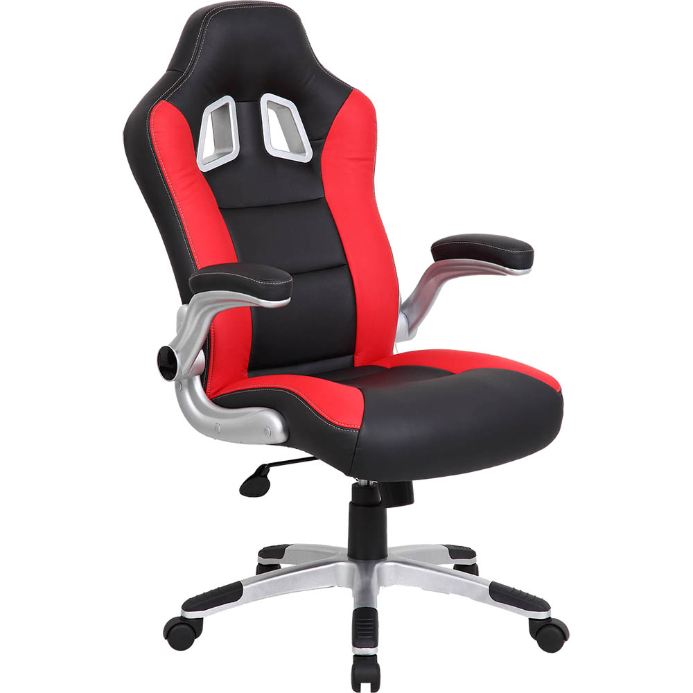 Image for XR8 FORMULA 1 OFFICE CHAIR WITH ARMS RED from Office National Limestone Coast