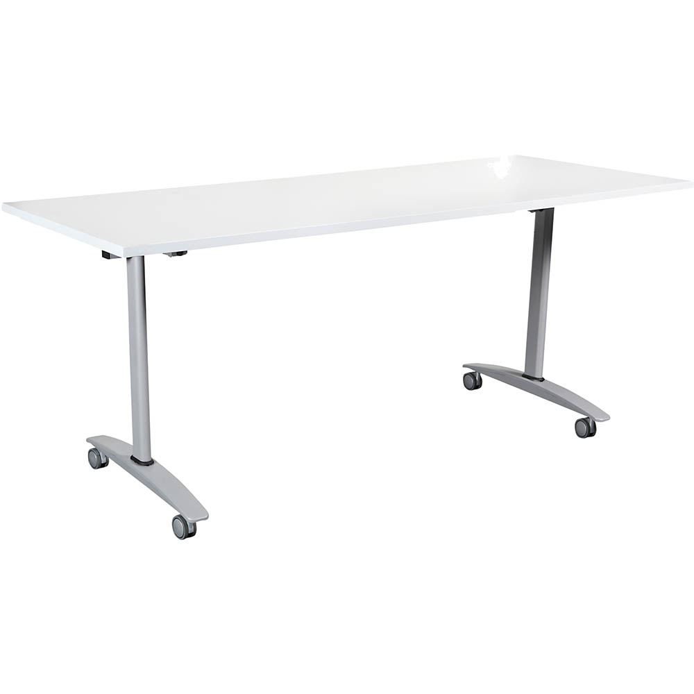Image for SUMMIT FLIP TABLE 1500 X 750MM WHITE from Mackay Business Machines (MBM)