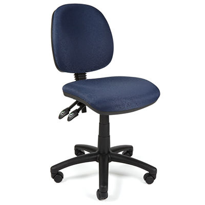 Image for YS DESIGN TASK CHAIR MEDIUM BACK BLUE from Pirie Office National