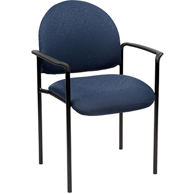Image for YS DESIGN STACKING VISITORS CHAIR MEDIUM BACK WITH ARMS BLUE from Wetherill Park / Smithfield Office National