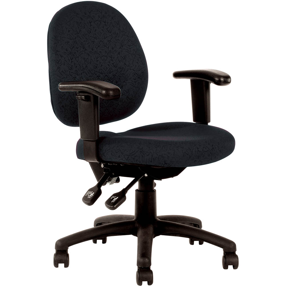 Image for LINCOLN TASK CHAIR MEDIUM BACK WITH ARMS BLACK from Pirie Office National