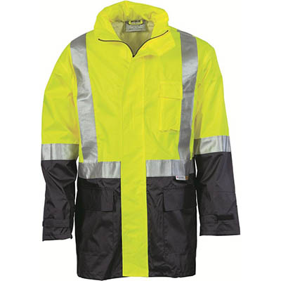 Image for ZIONS HIVIS LIGHTWEIGHT RAIN JACKET REFLECTIVE TAPE TWO TONE YELLOW/NAVY from Ezi Office National Tweed