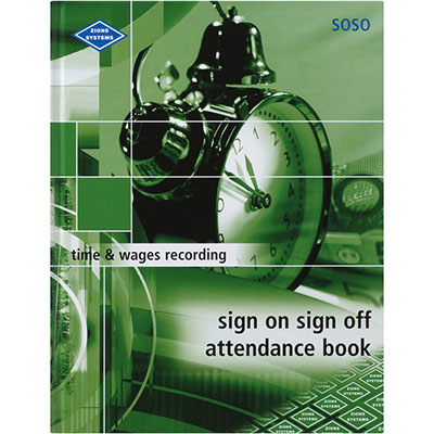 Image for ZIONS SIGN ON SIGN OFF ATTENDANCE BOOK 260 X 200MM 264 PAGE from SBA Office National