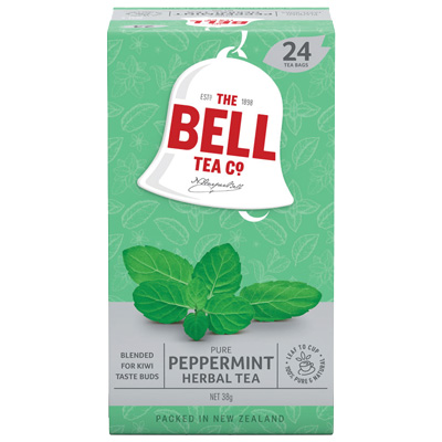 Image for BELL TEA BAGS HERBAL PEPPERMINT BOX 24 from Baigents Office Products Depot