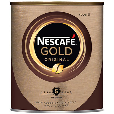 Image for NESCAFE GOLD INSTANT COFFEE ORIGINAL 400G CAN from Taupo Office Products Depot