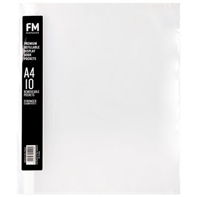 Image for FM PREMIUM REFILL PACK 10 DISPLAY POCKETS from Howick Office Products Depot