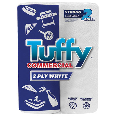 Image for TUFFY COMMERCIAL KITCHEN PAPER TOWEL 2 PLY TWIN PACK from Taupo Office Products Depot