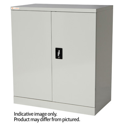 Image for OPD OFFICEWARE STATIONERY CUPBOARD 2 SHELVES W900 X D500 X H1000MM MATT BLACK from Action Office Products Depot