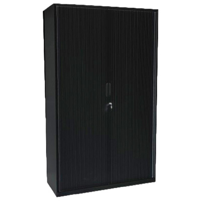 Image for OPD OFFICEWARE STATIONERY CUPBOARD 3 SHELVES W900 X D500 X H1800MM MATT BLACK from Action Office Products Depot