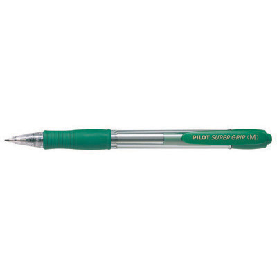 Image for PILOT SUPER GRIP RETRACTABLE BALLPOINT PEN MEDIUM 1.0MM GREEN from Bay Office Products Depot